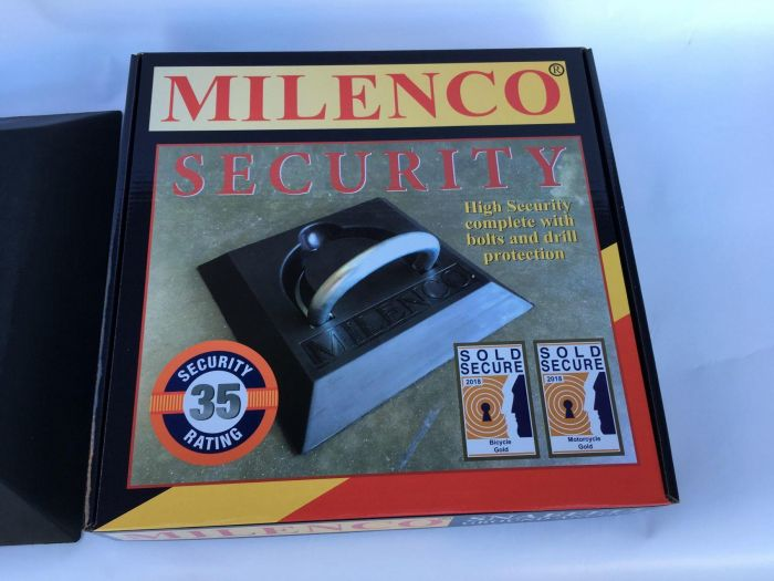 Milenco Snaefell Ground Anchor Motorcycle Motorbike Scooter Security Device